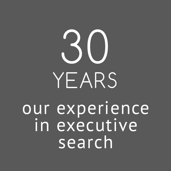 30 YEARS - our experience in executive search